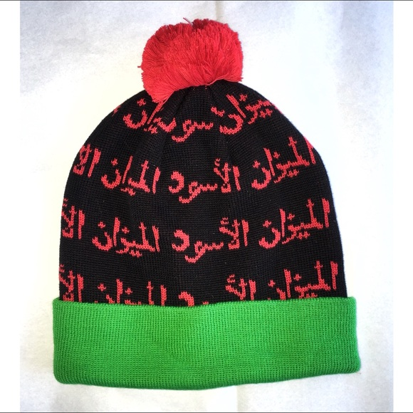NWOT - Green   Red Street Style Beanie 53a0bbb6052